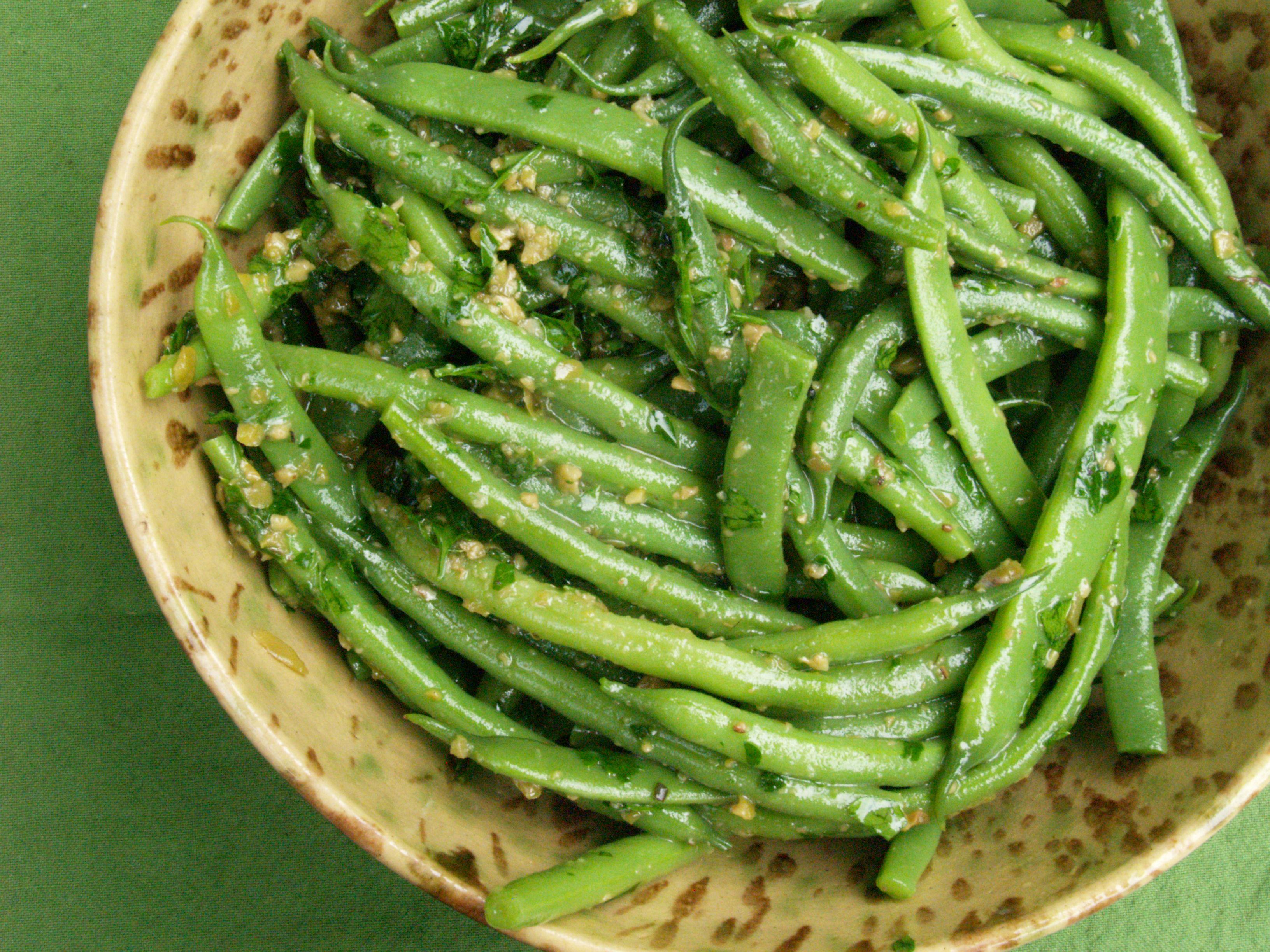 green beans with olives pitchforks butter knives. Black Bedroom Furniture Sets. Home Design Ideas